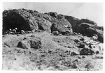 WWII Pacific Theater, combat photo: US Marines attacking a Japenese position