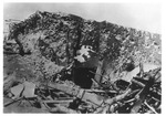 WWII Pacific Theater, combat photo: Japanese Army tunnel entrance