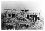WWII Pacific Theater, combat photo: destroyed Japanese building by Earl F. Dickinson