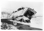 WWII Pacific Theater, combat photo: Japanese beach landing vehicle by Earl F. Dickinson