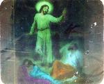 Victor Animatograph lantern slide: Disciples Asleep in the Garden