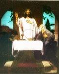 Victor Animatograph lantern slide: Christ at Emmaus