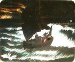 Victor Animatograph lantern slide: Christ on the Sea
