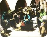 Victor Animatograph lantern slide:Courtyard of inn, Palestine