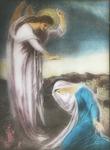 Victor Animatograph lantern slide: Blesssed art thou among women