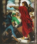 Victor Animatograph lantern slide:Christ Driving Out the Money Changers