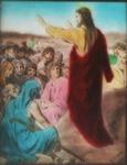 Victor Animatograph lantern slide:Christ Blessing the Children