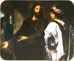 Victor Animatograph lantern slide: Christ and Rich Young Ruler