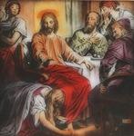 Victor Animatograph lantern slide:Anointing of Jesus