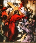 Victor Animatograph lantern slide: Jesus Bearing the Cross
