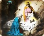 Victor Animatograph lantern slide: Jesus in the Grave