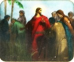 Victor Animatograph lantern slide:Jesus and his Disciples in the Corn Field