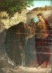 Victor Animatograph lantern slide: Healing the Leper
