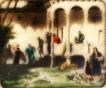 Victor Animatograph lantern slide: Good Samaritan at the Well