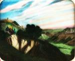 Victor Animatograph lantern slide: Jesus upon the Mount of Olives