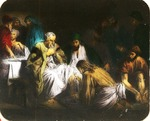 Victor Animatograph lantern slide: Jesus washes the Disciples Feet