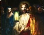 Victor Animatograph lantern slide:The Kiss of Judas