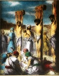 Victor Animatograph lantern slide: Jesus in the Midst (Crucifixion)