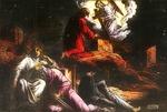 Victor Animatograph lantern slide: Jesus Agony in Gethsemane