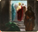Victor Animatograph lantern slide: The Pharisees and the Publican