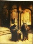 Victor Animatograph lantern slide: Mary and Joseph Find Jesus