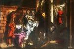 Victor Animatograph lantern slide: Peter Denies Jesus
