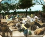 Victor Animatograph lantern slide: An Eastern Market Place