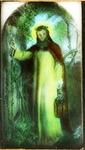 Victor Animatograph lantern slide: Light of the World (by W. H. Hunt)