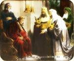 Victor Animatograph lantern slide: Wise Men Before Herod