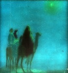 Victor Animatograph lantern slide: Wise Men and the Star