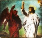 Victor Animatograph lantern slide: Temptation of Christ (by Hoffman)