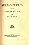 Sermonettes for Boys and Girls by Julius Fischbach