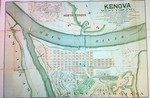 Map of Kenova, W.Va., at the confluence of the Ohio and Big Sandy Rivers.