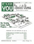 For You, Marshall Alumnus, Vol. 1, October, 1959, No. 1 by Marshall University