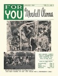 For You, Marshall Alumnus, Vol. 3, January, 1962, No. 3 by Marshall University