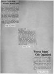 The Fourth Estate Club Scrapbook, 1932-1937