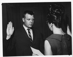 Huntington police chief swearing-in ceremony, Apr. 19, 1966