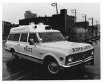 Huntington Police Dept. emergency medical vehicle, 1972