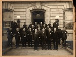 Huntington Police Dept., in front of old Federal courthouse, ca. 1900