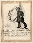 Original sketch for Puck Magazine, Ca. 1890's