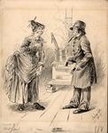 Original sketch for Puck Magazine, Nov. 1887