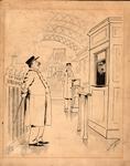 Original sketch for Puck Magazine, Nov. 1890