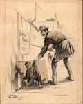 Original sketch for Puck Magazine, 1893