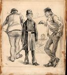 Original sketch for Puck Magazine, ca. 1900