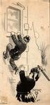 Original sketch for Puck Magazine, 1908