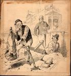 Original sketch for Puck Magazine, 1890
