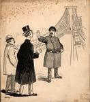 Original sketch for Puck Magazine, Jan. 1910