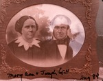 Photo of old portrait of Joseph and Mary Ann Gill