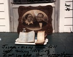 Photo of old portrait of Joseph and Mary Ann Gill, Gill diary & log book