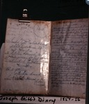Page from the Joseph Gill diary of 1854-56